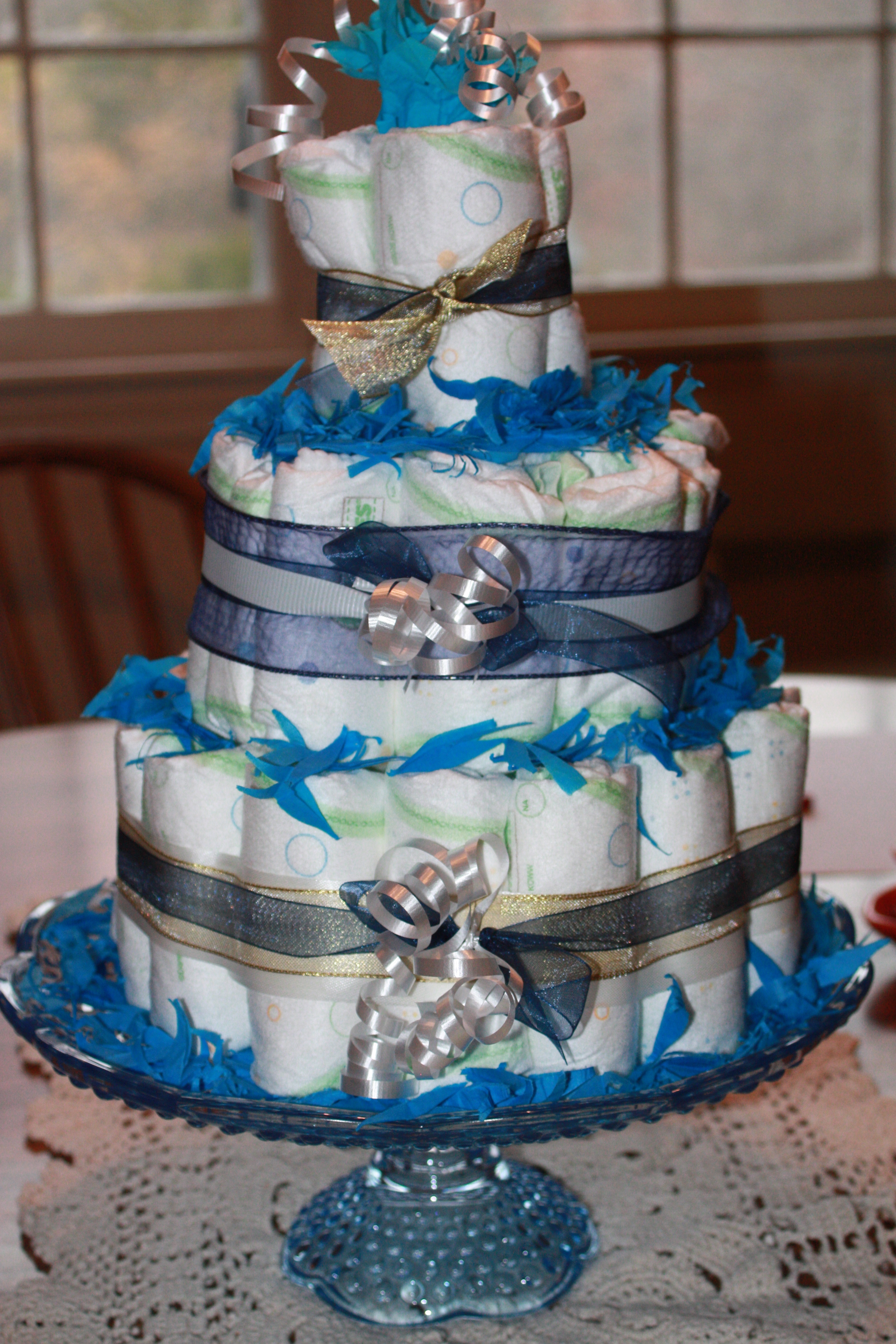 Superb Diaper Pyramid For Baby Shower Part - 2: This ...